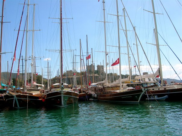 Boats in Bodrum, Turkey