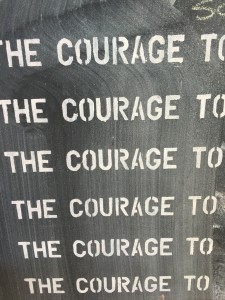Courage wall words